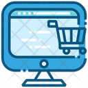 Computer Shopping Ecommerce Icon