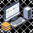 Datacenter Display Computer Storage Monitor Storage Icon