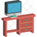 Computer Table Office Desk Study Table Icon