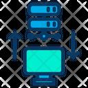 Transfer Data Computer Server Icon