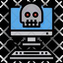 Virus Computer Skull Icon