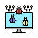Computer Virus Color Icon