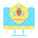 Computer Virus Protectiion Shield Virus Protection Shield Computer Virus Security Icon