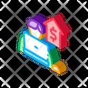 Computer Work Realtor Icon