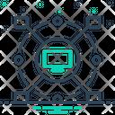 Computerized Cyber Monitor Icon