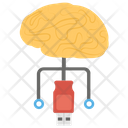Computerized Brain Neural Network Neural Interface Icon