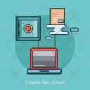 Computing Cloud Technology Icon