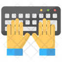 Computing Hands Keyboard Icon