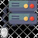 Dedicated Hosting Computing Server Database Processing Icon
