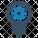 Bulb Concept Gear Icon