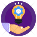 Creative Process Creative Service Idea Generation Icon