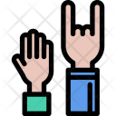 Concert Hands Music Icon