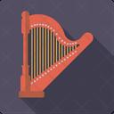 Concert harp Icon