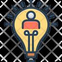 Conclusion Thinker Lightbulb Icon