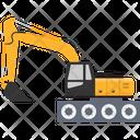 Concrete Bulldozer Construction Crane Icon