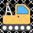 Concrete Bulldozer Crane Icon
