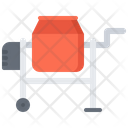 Concrete Mixer Building Icon