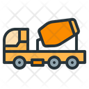 Concrete Mixer Construction Heavy Machinery Icon
