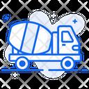 Concrete Mixer Truck Construction Vehicle Icon