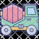 Concrete Mixer Vehicle Cement Truck Concrete Mixer Icon