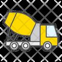 Concrete Mixer Cement Truck Vehicle Construction Icon
