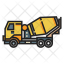 Concrete Mixer Truck Heavy Vehicle Icon