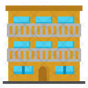 Condominium Building Chawls Icon