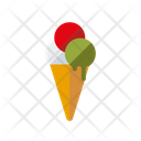 Cone Ice Cream Scoops Icon