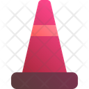 Cone Barrier Construction Icon