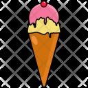 Cold Ice Cream Cone Icon