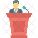Conference Political Leader Public Speaker Icon