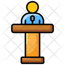 Conference Orator Speech Icon