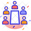 Conference Discussion Scrum Icon