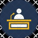 Conference Lecture Presentation Icon