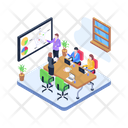 Business Presentation Business Meeting Business Discussion Icon