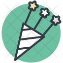 Confetti Streamers Wedding Icon