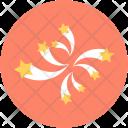 Confetti Streamers Party Icon
