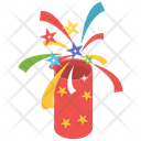 Party Popper Confetti Crackers Icon
