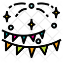 Confetti Newyears Party Icon