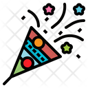 Birthday Celebration Confetti Icon