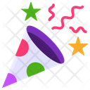 Popper Confetti Cracker Icon