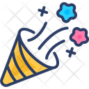 Confetti Cone Popper Icon