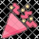 Confetti Celebration Party Popper Icon