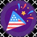 Confetti Streamers Party Popper Icon