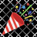Confetti Popper Christmas Icon