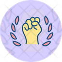 Confidence Hand Labor Day Icon
