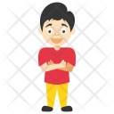 Confident Cartoon Boy Icon