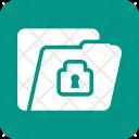 Confidential Folder Lock Icon