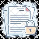 Confidential Document Confidential Papers Confidential Docs Icon