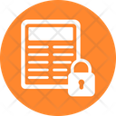Confidential File Data Protection Document Protection Icon